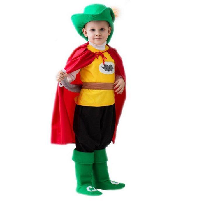 """Карнавальный костюм """"Кот в сапогах"""", зелёная шляпа, 5-7 лет, рост 122-134 см"""