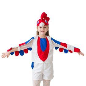 """Карнавальный костюм """"Петушок"""", 3-5 лет, рост 104-116 см, цвет белый"""