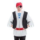 """Карнавальный костюм """"Пират"""", бандана, повязка на глаз, рубаха, пояс, р-р 52-54, рост 170-175 см"""