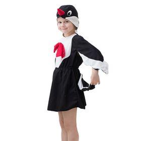 """Карнавальный костюм """"Сорока"""", шапка, кофта, юбка с хвостом, 3-5 лет, рост 104-116 см"""