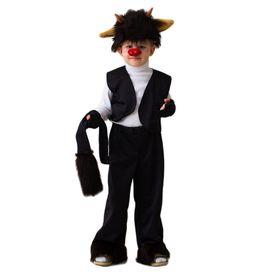 """Карнавальный костюм """"Чертёнок"""", шапка, жилет, штаны с хвостом, перчатки, нос на резинке, 5-7 лет, рост 122-134 см"""
