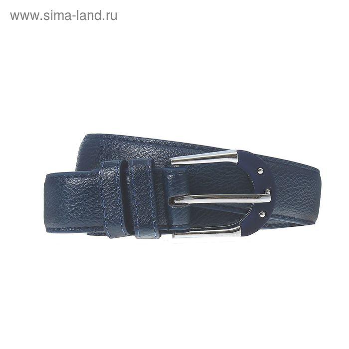 Ремень женский, пряжка под металл, ширина - 3см, синий