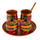 Набор посуды «Хохлома», люкс, 6 предметов