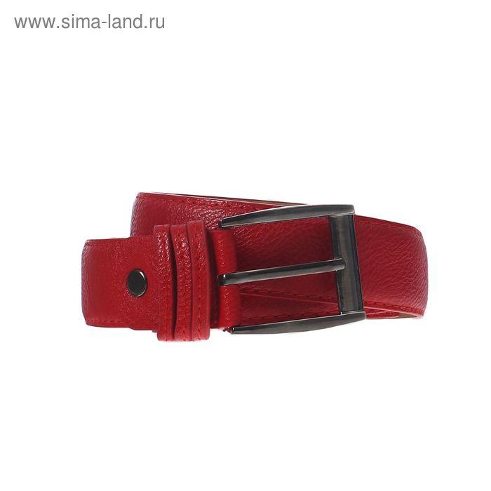 Ремень женский, винт, пряжка под тёмный металл, ширина - 3,5см, красный