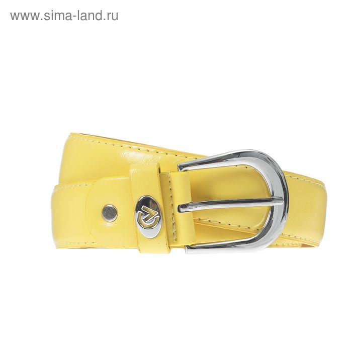 Ремень женский, винт, пряжка под металл, ширина - 3,5см, жёлтый