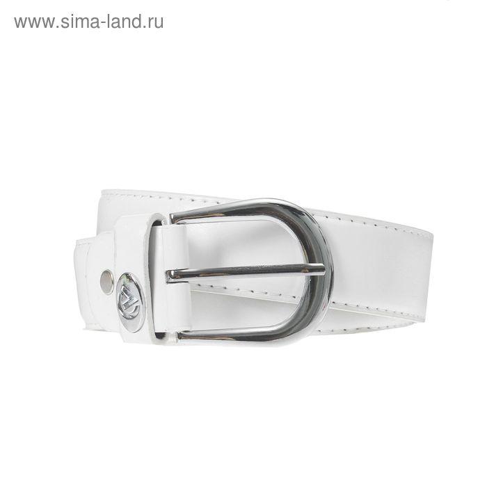 Ремень женский, винт, пряжка под металл, ширина - 3,5см, белый