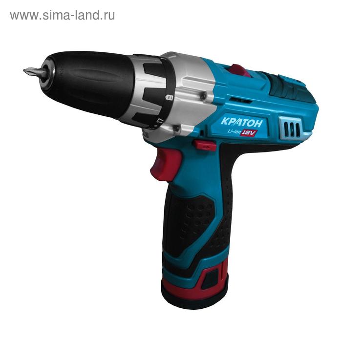 "Дрель-шуруповёрт аккумуляторная ""Кратон"" CDL-12-2-H"