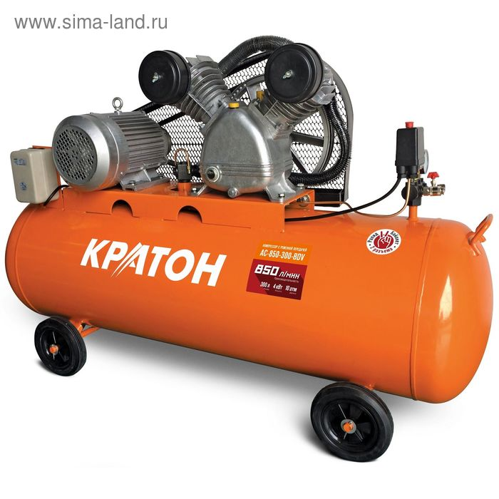 Компрессор ременной масляный Кратон AC-850-300-BDV