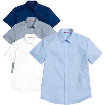 Сорочка верхняя для мальчика, рост 158 см, цвет голубой