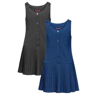 Сарафан для девочки, рост 122 см, цвет синий