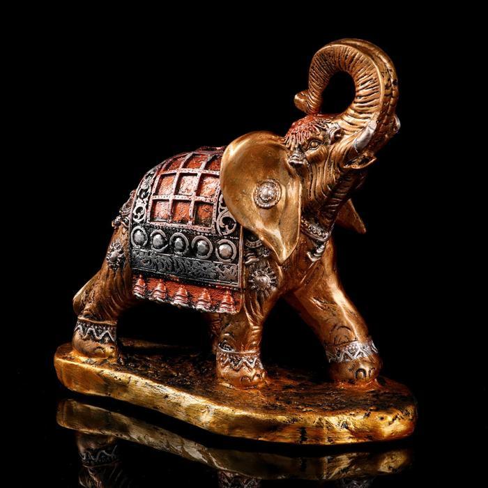 """Сувенир """"Слон бегущий"""" средний цветной"""