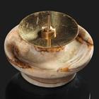Подсвечник «Чаша», с иглой, 5х5 см, оникс