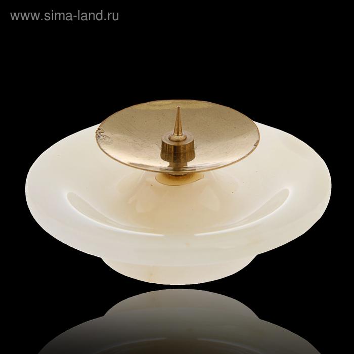Подсвечник «Чаша», с иглой, 5х7,5 см, оникс
