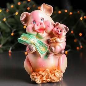 """Копилка """"Свинка Мама"""", глянец, розовый цвет, 29 см"""