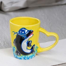 """Чашка """"Дельфин"""" 300 мл, микс"""