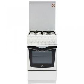Плита газовая De Luxe 506040.03 Г КР ЧР, 4 конфорки, 54 л, газовая духовка, белый