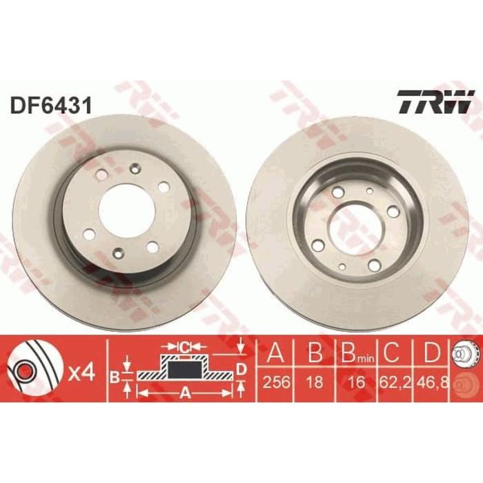 Диск тормозной TRW DF6431
