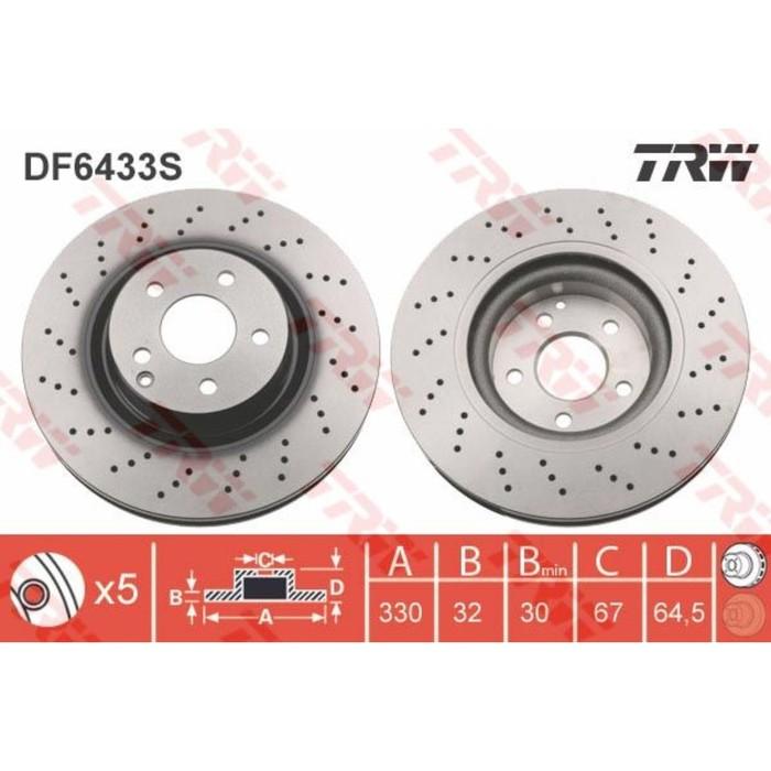 Диск тормозной TRW DF6433S