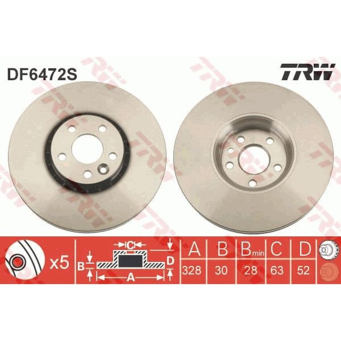 Диск тормозной TRW DF6472S