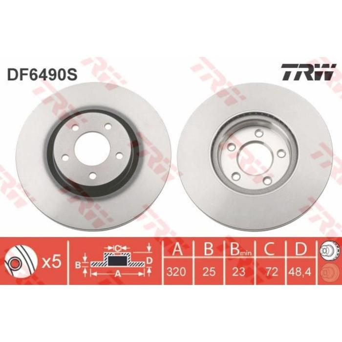 Диск тормозной TRW DF6490S