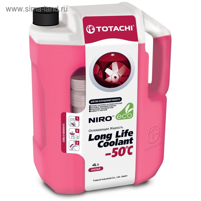 Жидкость охлаждающая Totachi NIRO LLC RED -50 C, 4 л