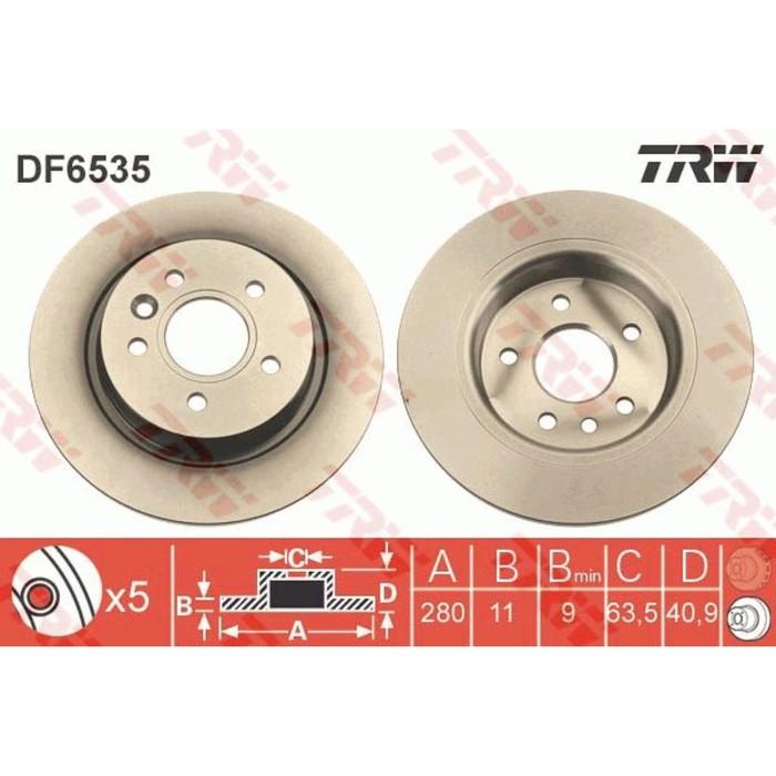Диск тормозной TRW DF6535