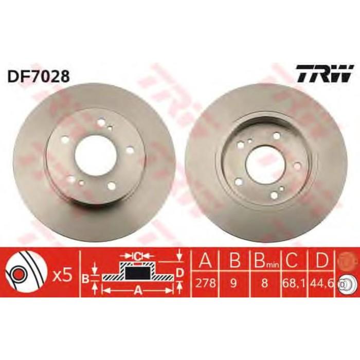 Диск тормозной TRW DF7028
