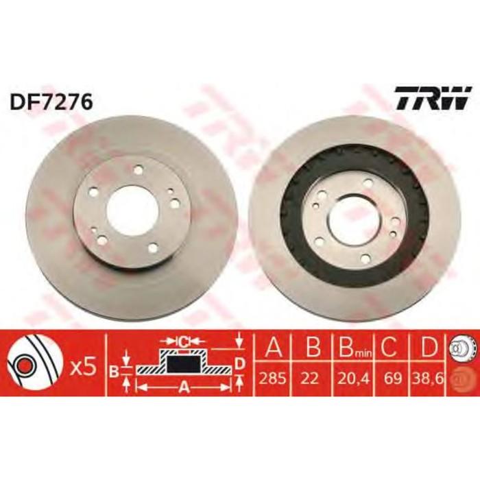 Диск тормозной TRW DF7276