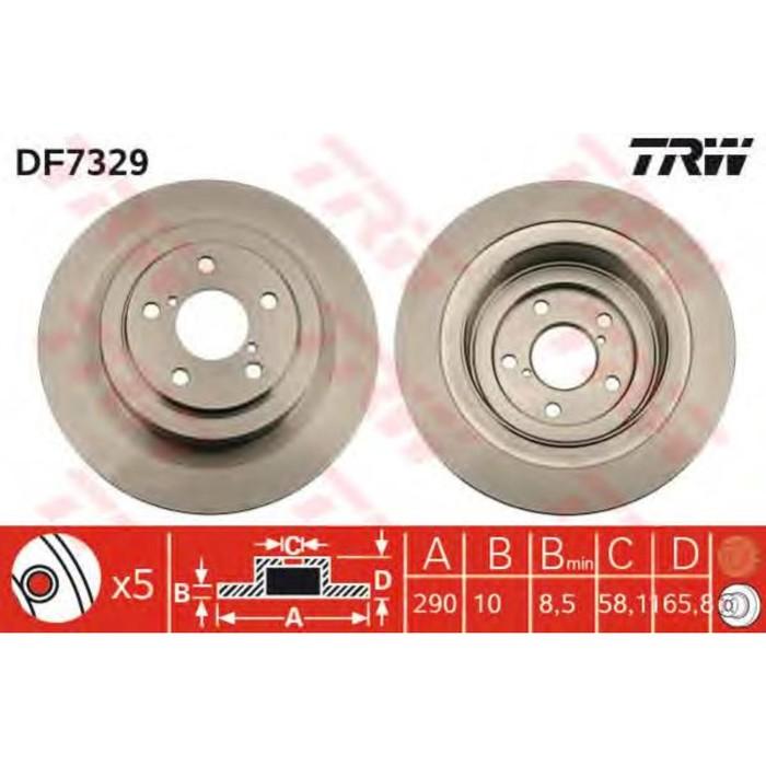 Диск тормозной TRW DF7329