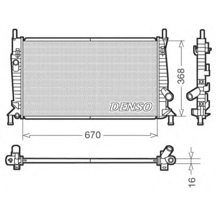 Радиатор охлаждения  DENSO DRM10075