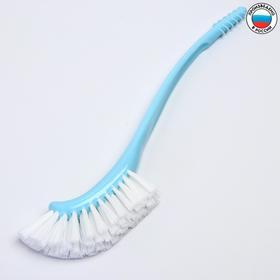 Щётка для мытья бутылочек и сосок, цвет голубой