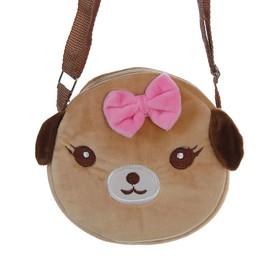 Мягкая сумочка «Собачка», с бантиком