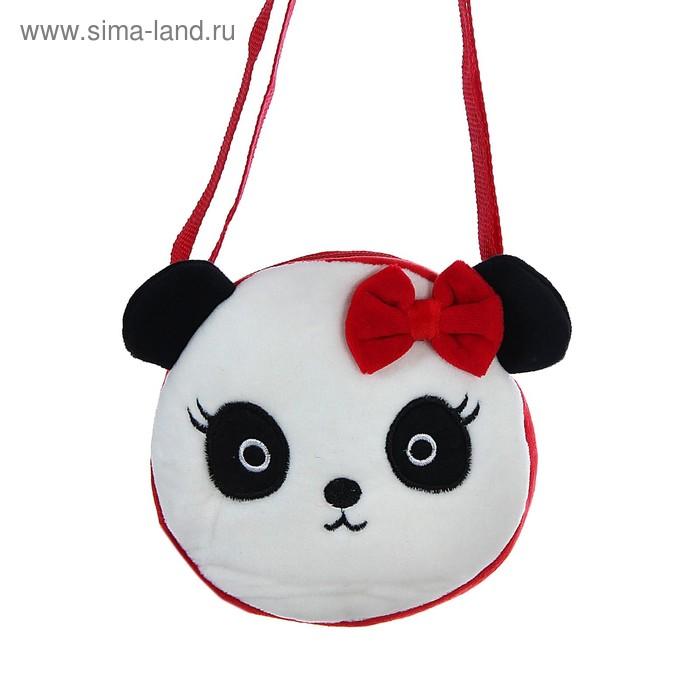 """Мягкая сумочка """"Панда"""" с бантиком"""