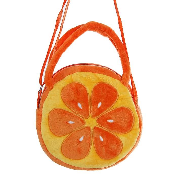 Мягкая сумочка «Апельсин», круглая, 18 см