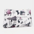 "Simple cosmetic bag with zipper ""the City"", the division 1, color beige"