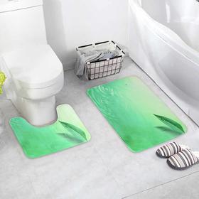 {{photo.Alt    photo.Description    'Набор ковриков для ванны и туалета Доляна «Флора», 2 шт: 38×43, 45×74 см, цвет зелёный'}}