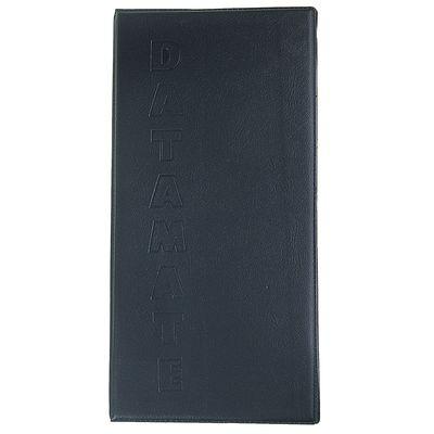 Визитница, 160 карт, 4 карты на 1 листе, обложка пвх, чёрная