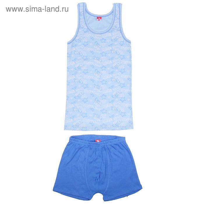Комплект для мальчика (майка, трусы-боксеры), рост 140 см (72), цвет голубой (арт. CAJ 3384_Д)