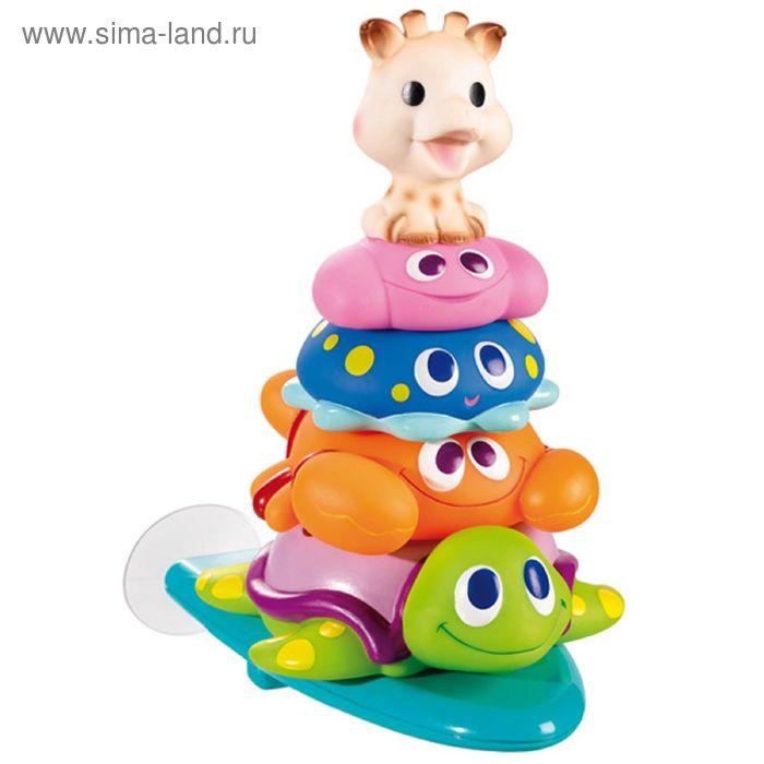 Игрушка для ванны Vulli «Пирамидка Жирафик Софи и друзья», от 8 мес.