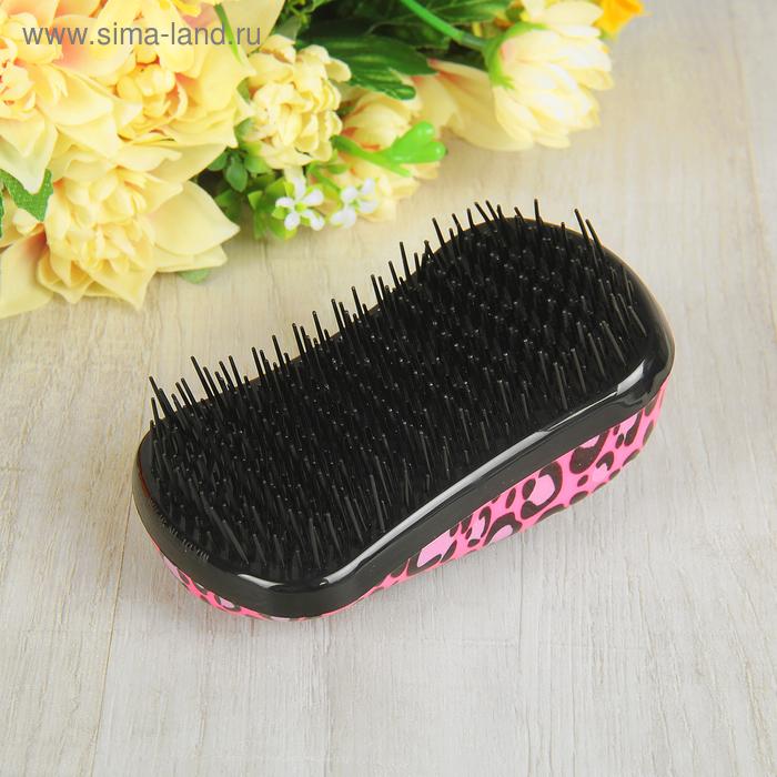 Щётка для распутывания волос, цвет леопард