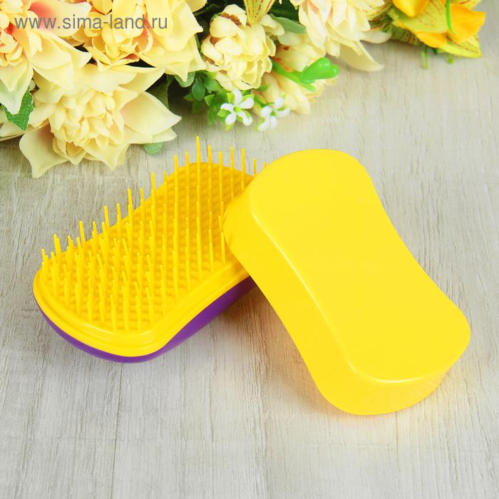 Щётка для распутывания волос, цвет фиолетовый/жёлтый