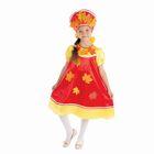 """Карнавальный костюм """"Осенняя краса"""", 2 предмета: платье с кокеткой, кокошник, р-р 64, рост 128 см"""