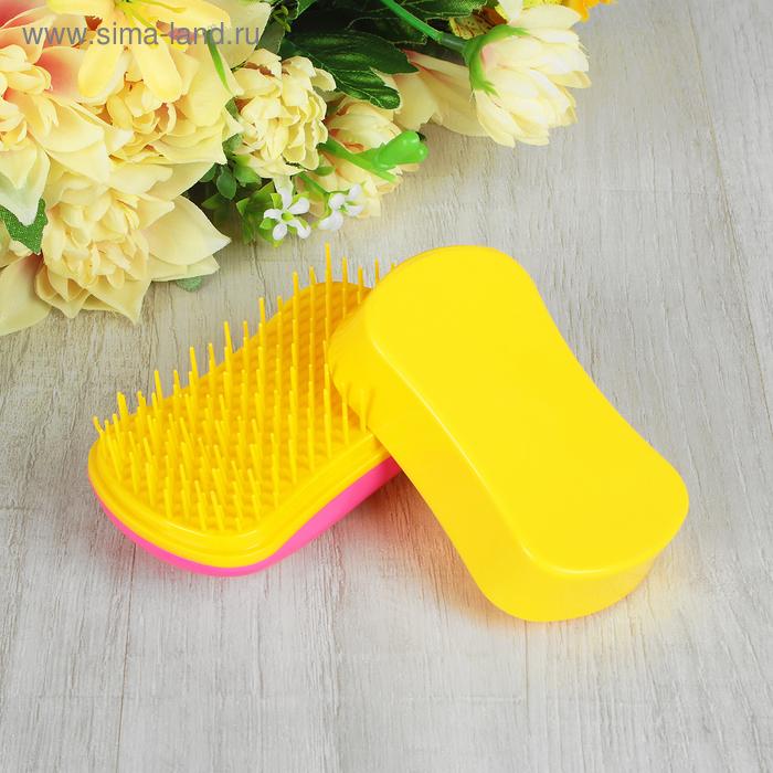 Щётка для распутывания волос, цвет фуксия/жёлтый