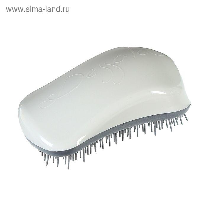 Щётка для распутывания волос, цвет бело-серебристый