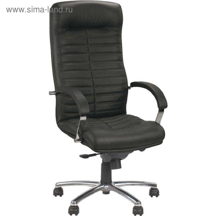 Кресло руководителя Orion Steel Chrome PU01 черный, ЭкоКожа