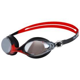 Очки для плавания, взрослые, цвет красный