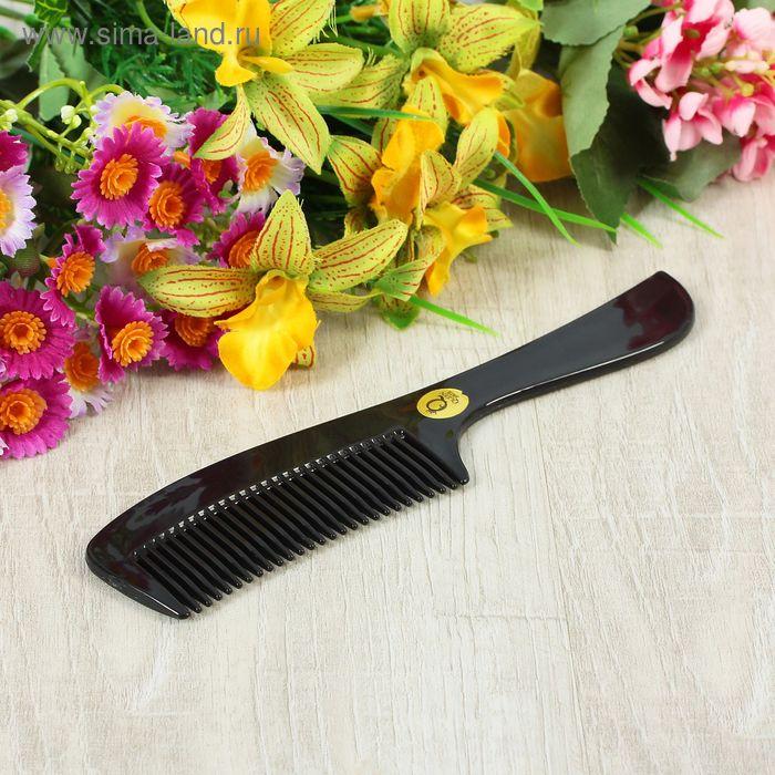Расчёска с ручкой комбинированная, цвет чёрный