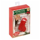 Новогодние носки для подарков «Уютный праздник», набор для шитья, 10,5 × 16,5 × 5 см