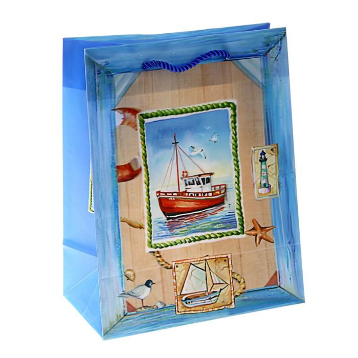"""Пакет пластиковый, 3D рисунок """"Морской пейзаж"""""""