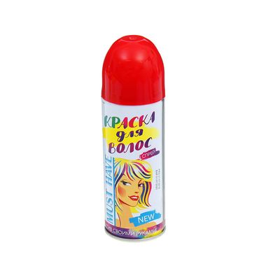 Краска - спрей для волос, 250 мл, цвет красный